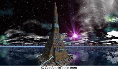 Temple of aliens and UFO