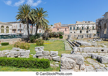 Temple of Apollo, ancient Greek monument in Syracuse, Sicily