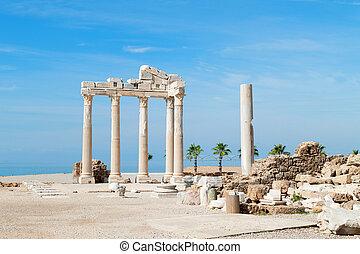 Temple of Apollo ancient ruins, Turkey.