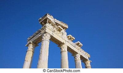 Temple of Apollo ruins in Side, Turkey - Collumns of Apollo...