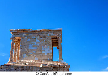 Temple of Athena Nike on the Acropolis in Athens