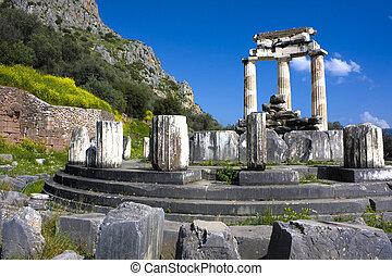 Temple of Athena Pronea, Delphi, Greece - Image of the...