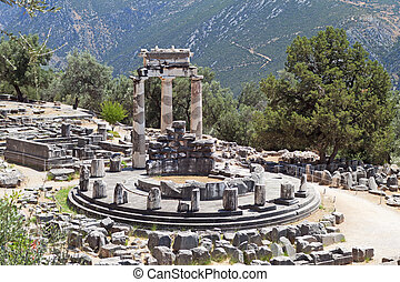 Temple of Athena pronoia at Delphi oracle archaeological ...
