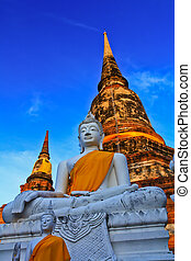 Temple of Ayuthaya, Thailand,