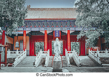 Temple of Confucius at Beijing is the second largest ...