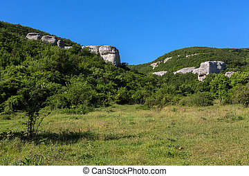 Temple of Donators at Cave City in Cherkez-Kermen Valley, Crimea