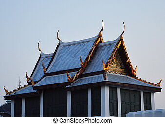 temple of emerald Buddha in the eve