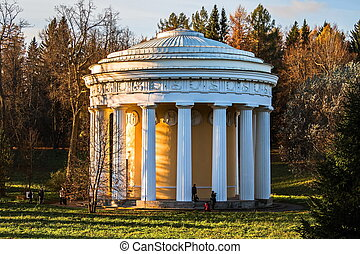 Temple of Friendship in the classical style of architect Cameron.