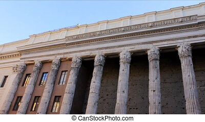 Temple of Hadrian on the Campus Martius in Rome, Italy. Good...