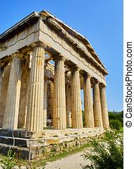 Temple of Hephaestus. Ancient Agora of Athens. Attica,...
