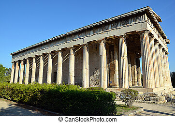 temple of hephaestus in athens greece photography