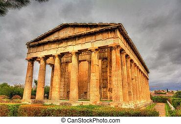 Temple of Hephaestus in Athens - Greece
