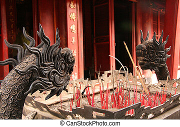 Temple of Literature, Hanoi - Dragons at Temple of...