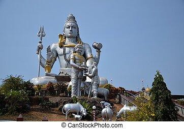 Temple of Lord Shiva, Karnataka, India - Hindu temple of...