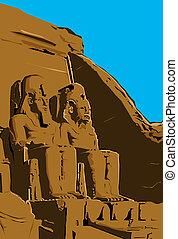 Temple of Luxor, Luxor, Egypt - Clip Art of Temple of Luxor,...