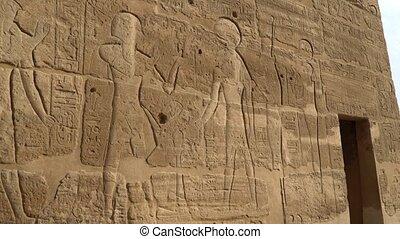 Temple of Medinet Habu. Egypt, Luxor. The Mortuary Temple of...