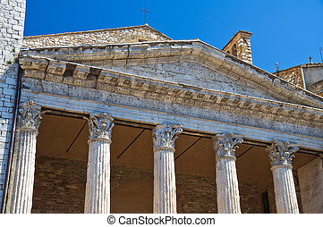 Temple of Minerva. Assisi. Umbria. Italy.