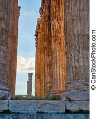 Temple of Olympian Zeus. Athens, Attica, Greece. -...