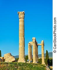 Temple of Olympian Zeus. Athens, Attica, Greece. - Temple of...
