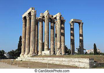Temple of Olympian Zeus Athens - the Temple of Olympian Zeus...