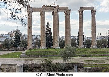 Temple of Olympian Zeus in Athens, Attica, Greece
