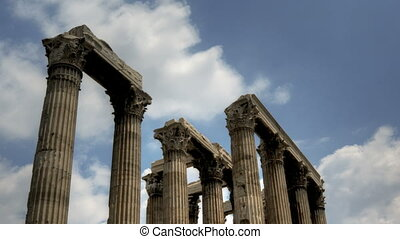 Temple of Olympian Zeus in Timelapse