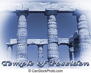 Temple of Poseidon in Sounio Greece