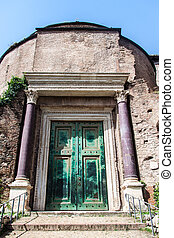 Temple of Romulus, Rome, Italy - The Temple of Romulus (The ...