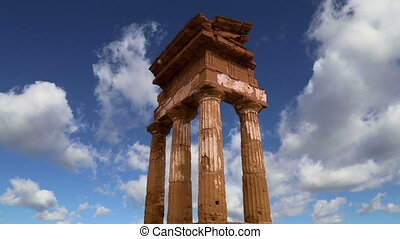 Temple of the Dioscuri, Sicily - Ancient Greek Temple of the...