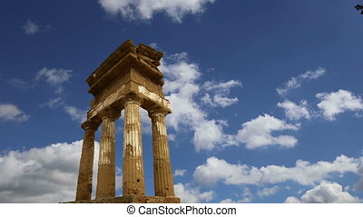 Temple of the Dioscuri,Sicily.
