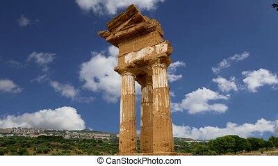 Temple of the Dioscuri,Sicily. - Ancient Greek Temple of the...