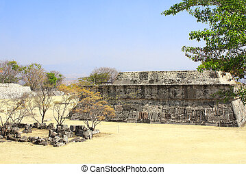 Temple of the Feathered Serpent, Xochicalco, Mexico - Temple...
