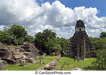 Temple of the Great Jaguar in Tikal - Temple of the Great...