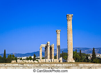 Temple of the Olympian Zeus at Athens, Greece
