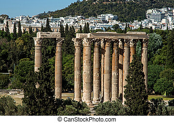 Temple of the Olympian Zeus in Athens, Greece