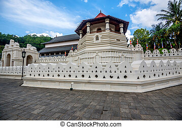 Temple of the Sacred Tooth Relic in Sri Lanka