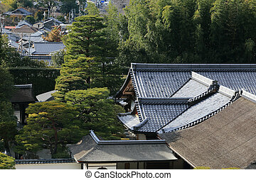 Temple of the Silver Pavilion in Kyoto, Japan
