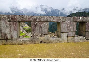 Temple of the three windows, Machu Picchu, Peru - Temple of...