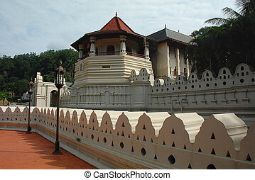 Temple of the Tooth of Buddha in Kandy, Sri Lanka
