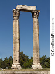 Temple of Zeus at Athens near Acropolis