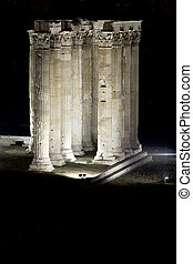 Temple Of Zeus In The Dark