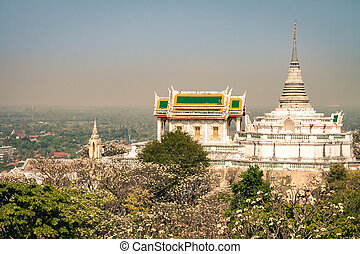 Temple on mountain in Thailand