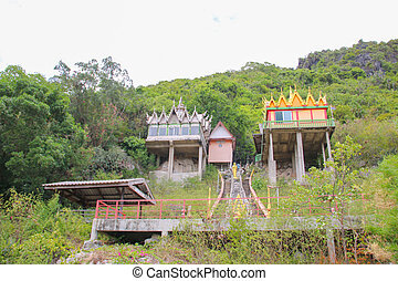 temple on the mountain landscape view