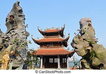 Temple Pagoda in Hanoi, Vietnam - Chua Tao Sach temple...
