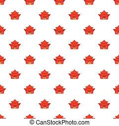 Temple pattern, cartoon style