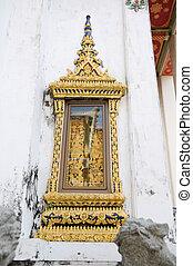 temple, pho, fenêtre, wat