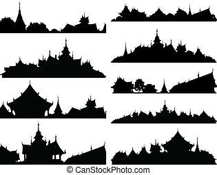 temple, premiers plans
