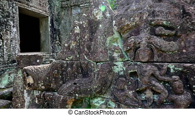 Temple rocks and temple walls - A medium shot of temple...