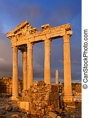 temple, ruines, apollo