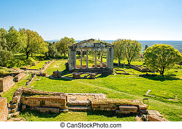 Temple ruins in Ancient Apollonia in Albania